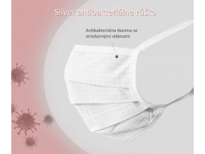 ochranné rúška so striebornými vláknami Silver na šnúrky
