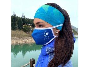 Anatomické ochranné rúško Dog blue