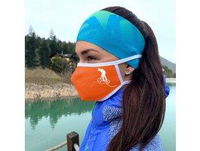 oranžové športové ochranné rúško