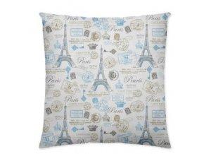 vaknúš 45x45 cm s motívom Eifelovej veže v Paríži v ružových odtieňoch
