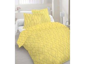 žlté obliečky s jednoduchou striebornou potlačou Tinsel