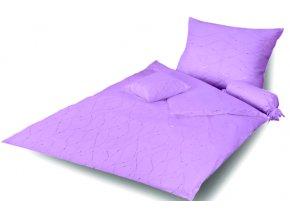 fialové obliečky s modernou striebornou potlačou Tinsel