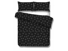 čierne obliečky s elegantnou sivou potlačou Beam