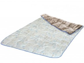 hrejivá deka Velvet Micro PARIS BLUE