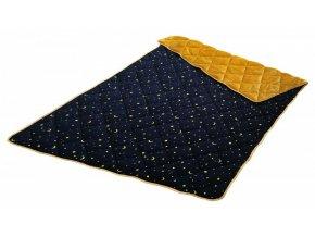 hrejivá deka Velvet Micro GOOD NIGHT s hviezdičkami