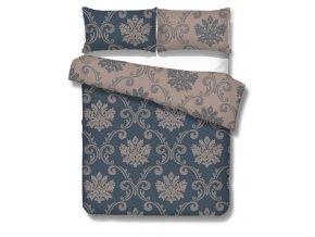 makosaténová obliečka v modrej a sivej farbe Imperial silver blue