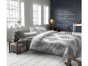 obliečky makosatén v sivej a bielej farbe Boho grey