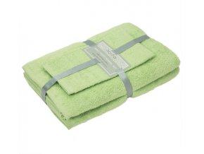 Jednofarebné uteráky a osušky zelené Vienna light green