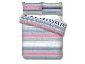 krepové obliečky s modrými pásikmi Trogir blue
