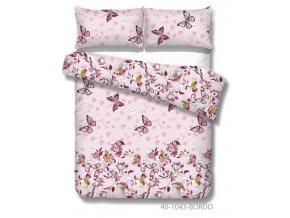 bavlnené obliečky s motýlmi s borrovej farbe Tatiana bordo