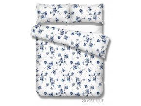 bavlnené obliečky s modrými kvetmi Maria blue