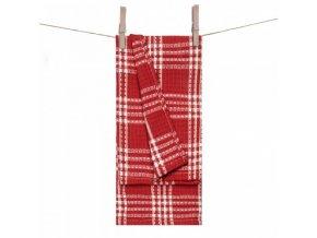 bavlnená vaflová utierka v červenej farbe Kalkata