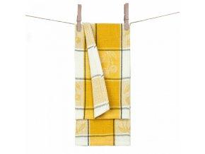 Vaflové utierky 100% bavlna Amerelle v žltej farbe