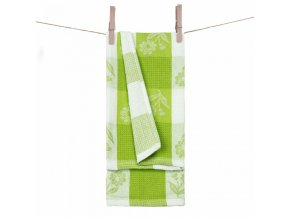 Vaflové utierky v zelenej farbe Daisy materiál 100% bavlna