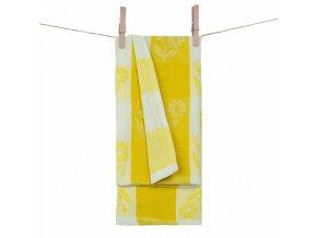 Vaflová utierka 100% bavlna daisy v žltej farbe
