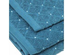 uteráky a osušky Diamond farba tyrkysová detail