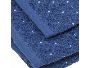 uteráky a osušky Diamond farba tmavomodrá detail
