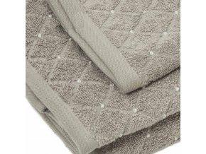 uteráky a osušky Diamond farba sivohnedá detail