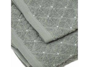 uteráky a osušky Diamond farba sivá detail