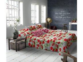 makosaténové obliečky vlcie maky Poppies allover