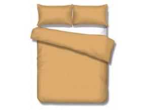 saténové jednofarebné obliečky v zlatej farbe
