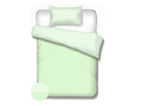 DOTS STRIPES GREEN - bavlnené obliečky