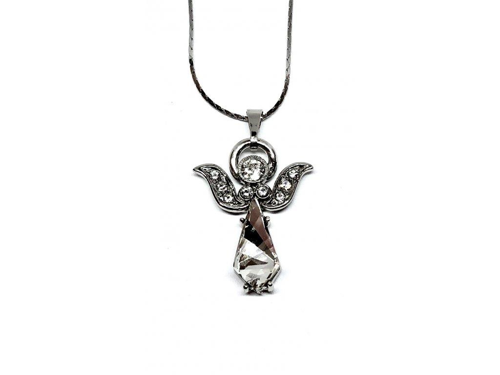 Anděl se soliterním crystalem, na řetízku