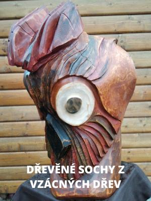 Dřevosochař František Dauš vyrábí sochy pro Vaše exteriéry i interiéry. Každý je originálem!
