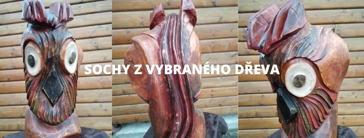 Dřevosochař František Dauš vyrábí sochy pro Vaše exteriéry i interiéry. Každá je originálem!