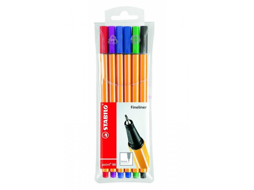 Liner Stabilo Point 88 - sada 6 barev