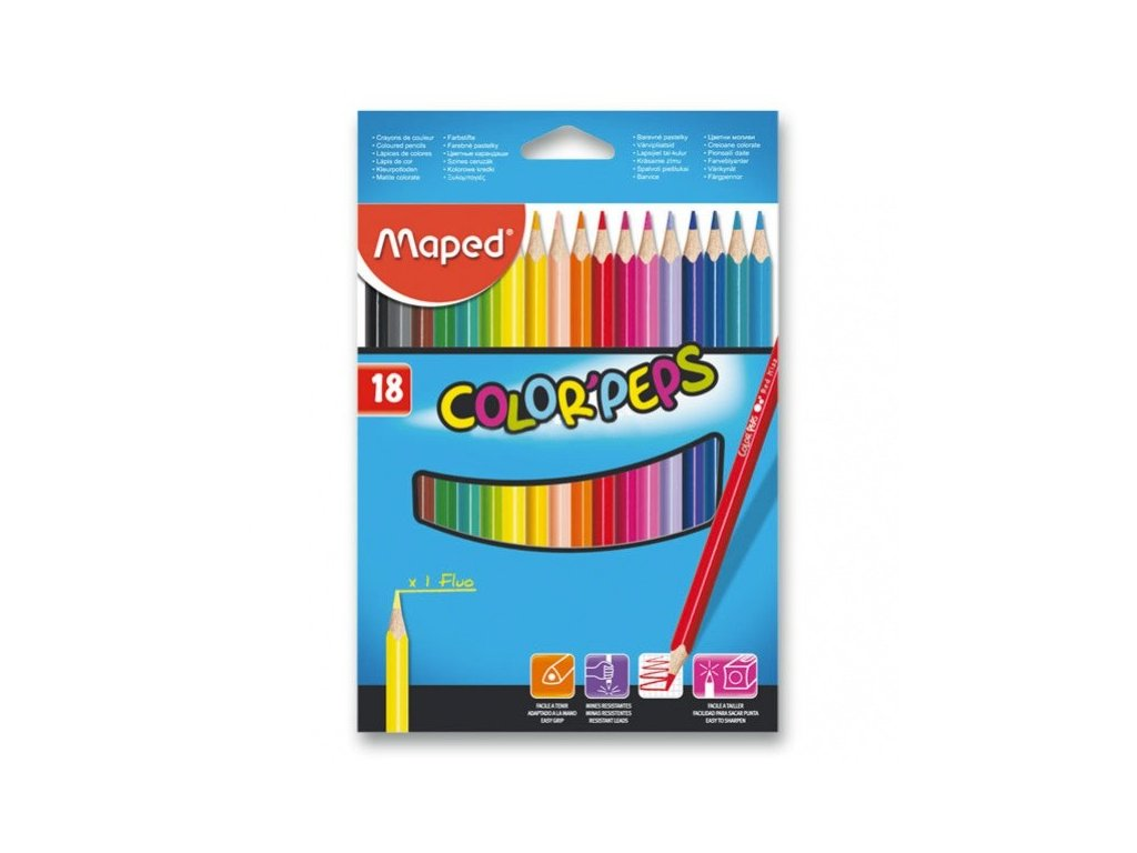 Pastelky Maped Color´Peps 18 barev