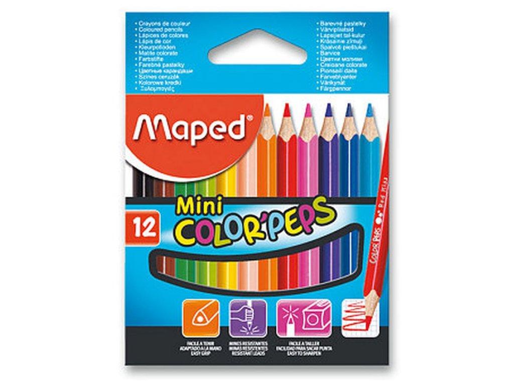Pastelky Maped Color´Peps 12 barev mini