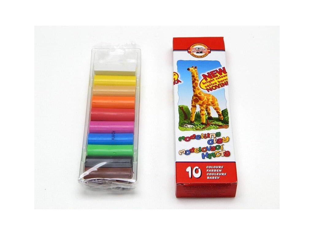 Modelína Koh-i-noor 10 barev, 200 g