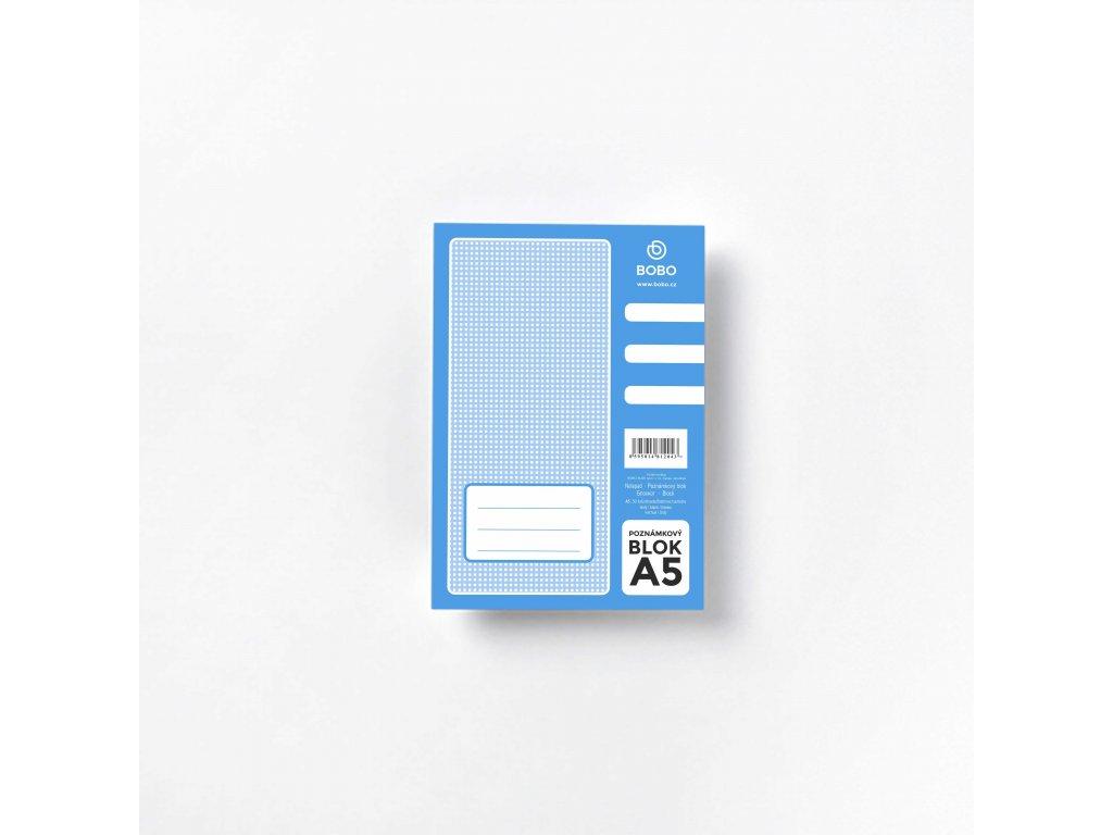 BOBO Blok poznámkový lepený A5 čistý