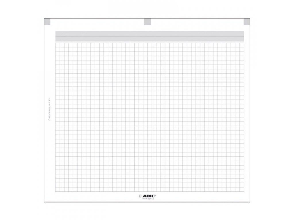 Čtverečkovaný papír A5 ADK