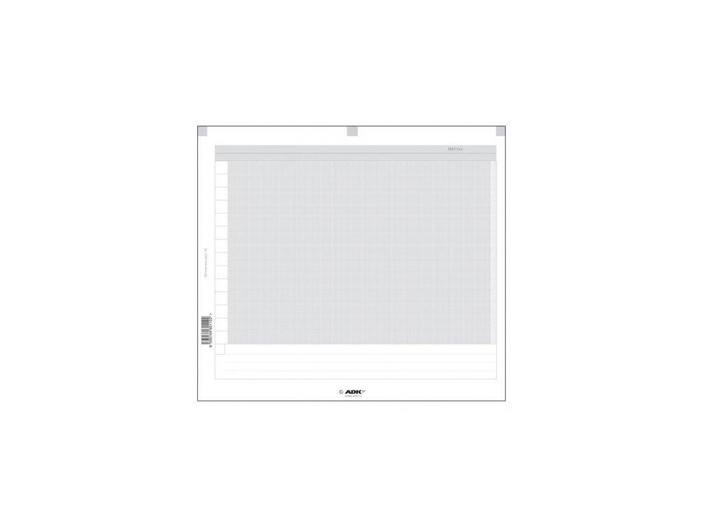ADK Milimetrový papír A5 /4 dvojlisty/