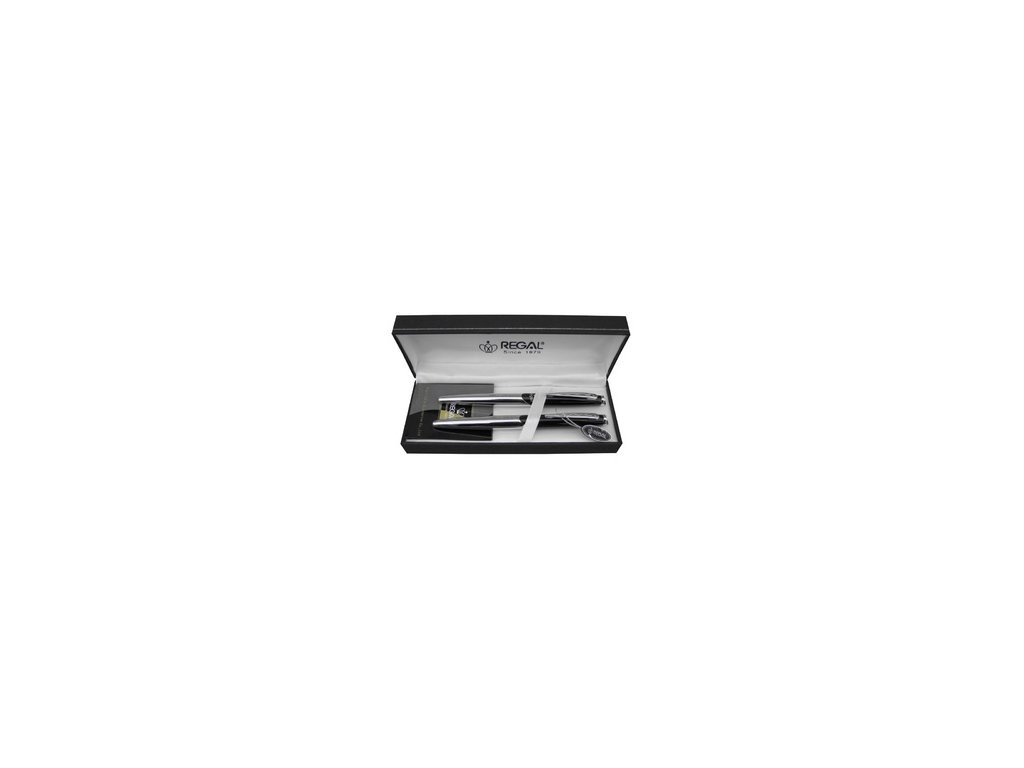 Psací souprava Regal Themis - černá - roller + kuličkové pero P25021RB