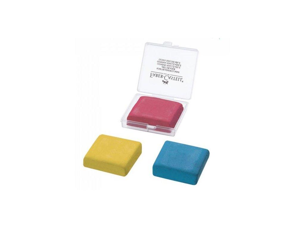 Pryž umělecká Faber Castell, v průhledné krabičce mix barev