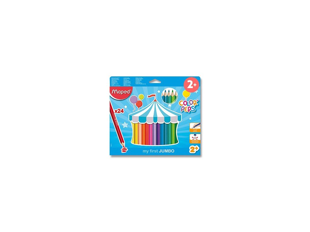 Pastelky Maped Color´Peps 24 barev MAXI