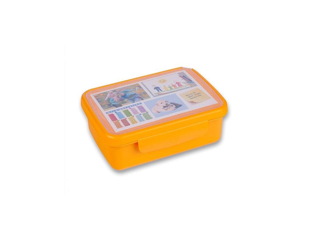 Zdravá sváča Box Fluo oranžový