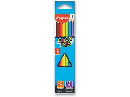 Pastelky Maped Color´Peps 6 barev