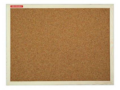 Tabule korková 90x60 cm dřevěný rám