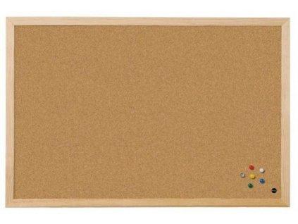 Tabule korková 90 x 120 cm dřevěný rám Bi-office