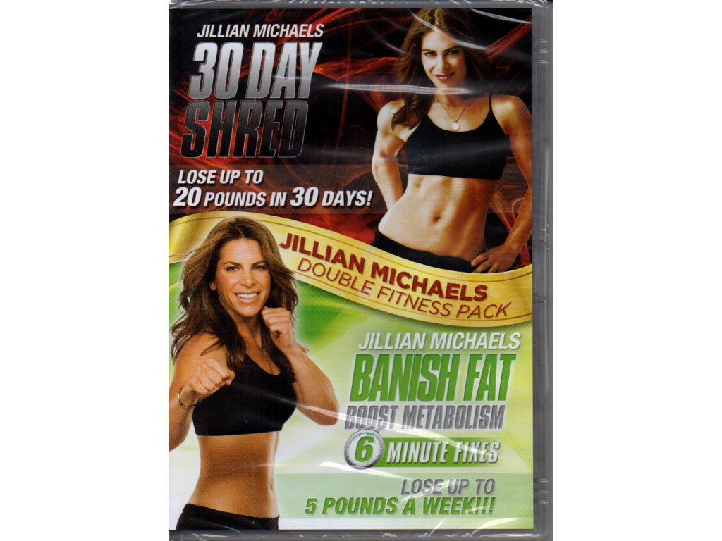 Jillian Michaels Double Fitness Pack: 30 Day Shred & Banish Fat Boost Metabolism (2 DVD)