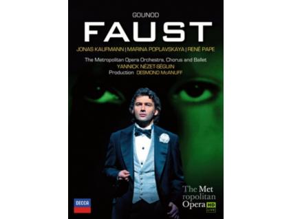 JONAS KAUFMANN MARINA POPLAVSKAYA RENE PAPE METROPOLITAN OPERA CHORUS METROPOLITAN OPERA ORCHESTRA YANNICK NEZET-SEGUIN - Gounod: Faust (DVD)
