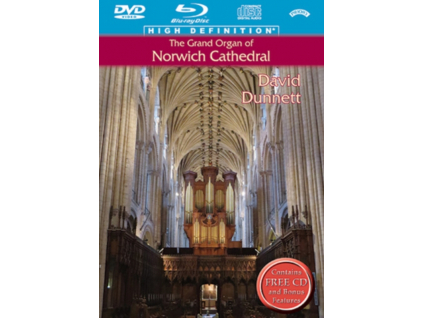 DAVID DUNNETT - The Grand Organ Of Norwich Cathedral (Blu-ray + DVD)