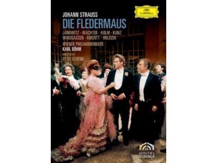 GUNDULA JANOWITZ ERICH KUNZ HEINZ HOLECEK EBERHARD WACHTER WOLFGANG WINDGASSEN WIENER PHILHARMONIKER KARL BOHM - Strauss. J.: Fledermaus (DVD)