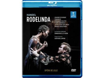 LE CONCERT DASTREE / EMANUELLE HAIM / JAKUB JOZEF ORLINSKI / JEANINE DE BIQUE / TIM MEAD / BENJAMIN HULETT / AVERY AMEREAU / ANDREA MASTRORONI - Handel: Rodelinda (Opera De Lille 2018. Stage Director: Jean Bellorini) (Blu-ray)