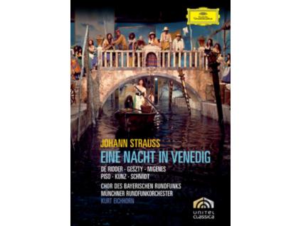 ANTON RIDDER SYLVIA GESZTY TRUDELIESE SCHMIDT JULIA MIGENES ERICH KUNZ MUNCHNER RUNDFUNKORCHESTER KURT EICHHORN - Strauss. J.: Eine Nacht In Venedig (DVD)