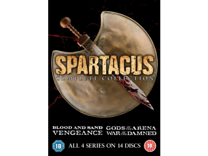 Spartacus Series 1 to 4 Complete Collection DVD
